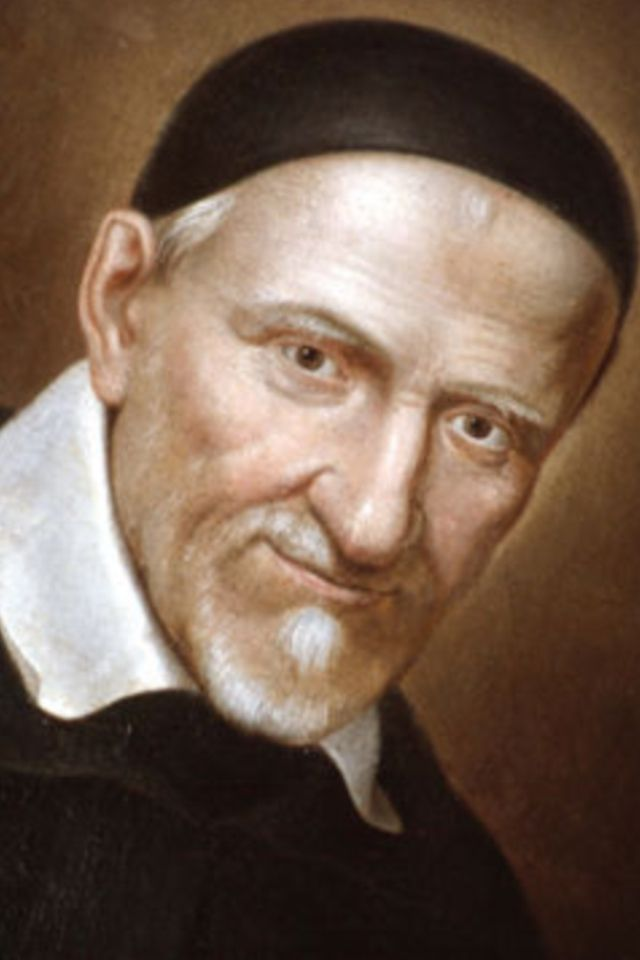 St Vincent de Paul Patron of Charitable Societies, St. Vincent spent his life working to help all who were in need. His zeal was fueled by his intimate union with our Eucharistic Lord. St. Vincent founded groups of priests, religious and laity to care for the poor, sick, aged and orphaned.