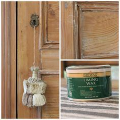 DIY:  How to Get an English Antique Finish With Liming Wax - via forever*cottage: Using Liming Wax on Pine…..