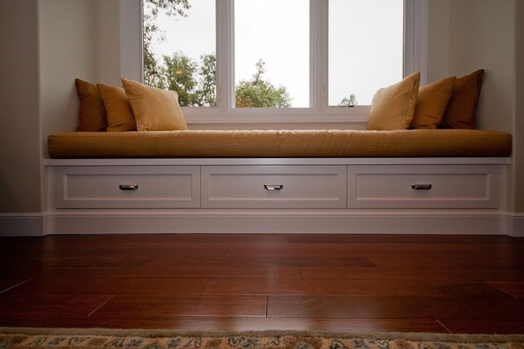 Low Window Seat With Drawers Design Ideas Pinterest