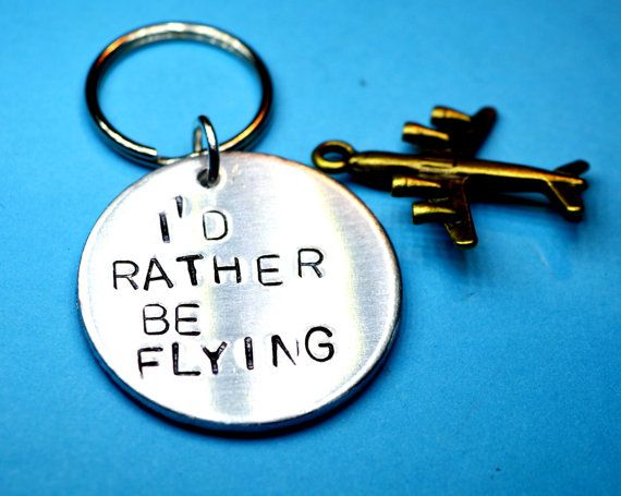 Flying gift Pilots gift Aviation giftPilot keyringAviation