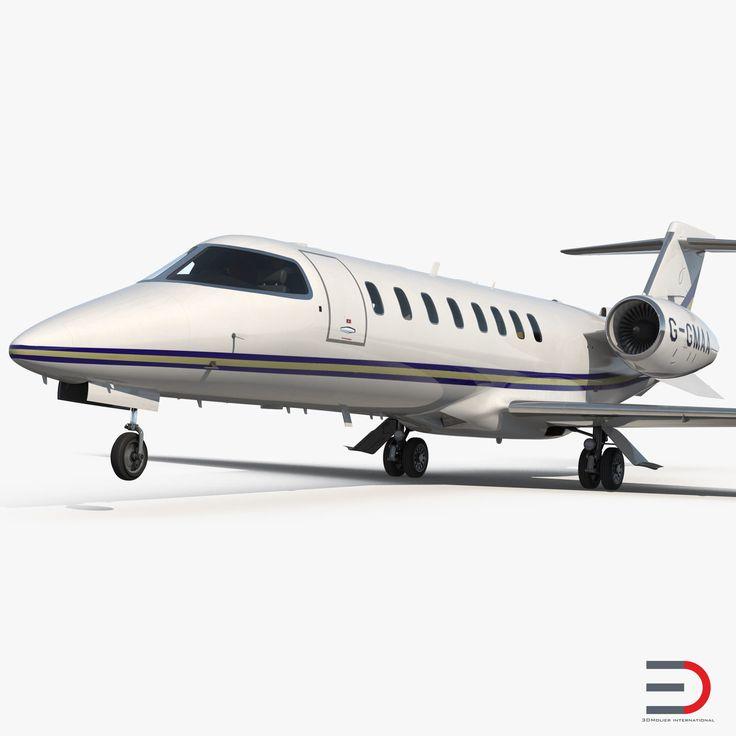 3D Business Jet Bombardier Learjet 45