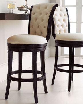 Monohan Tufted Barstool Traditional Bar Stools And Counter