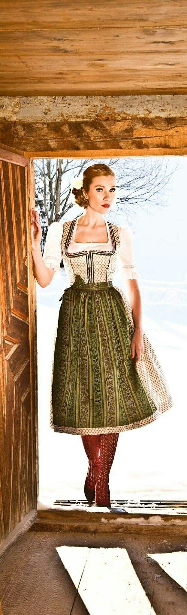 Landhausmode - Modern Dresses based on Dirndl (Traditional Alpine Peasant Clothing)