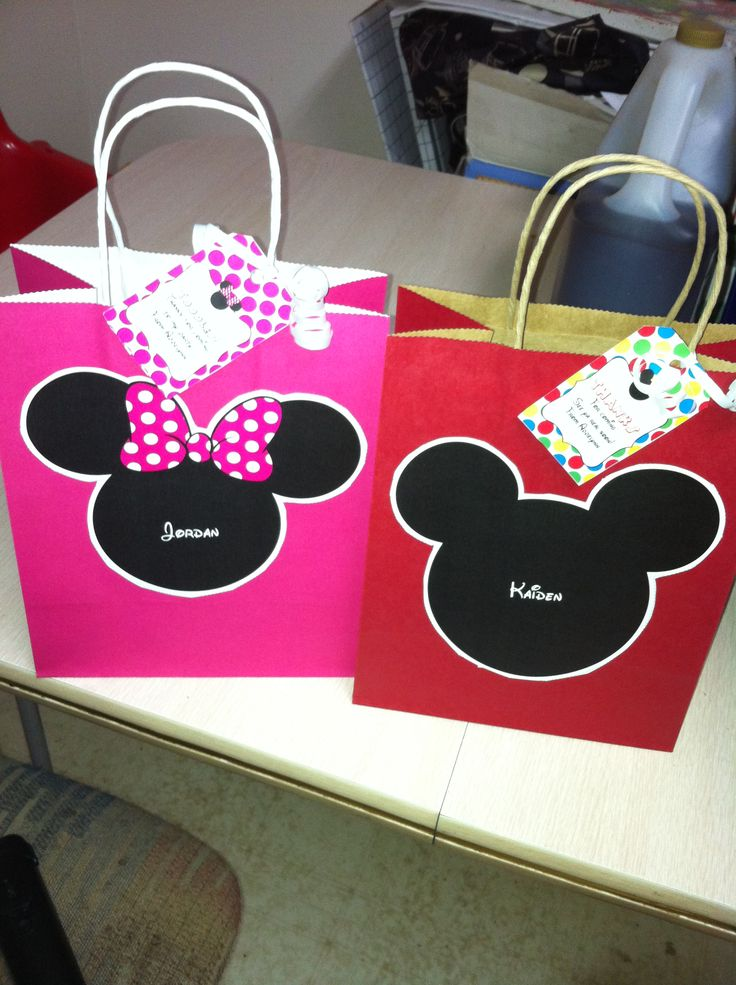 Mickey And Minnie Goody Bags Minie Mouse Party