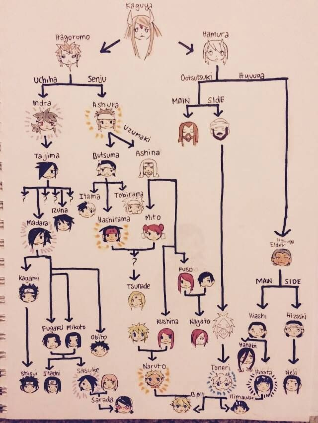 A family tree, and if Boruto and Sarada end up together, all they have to do is draw a little line.