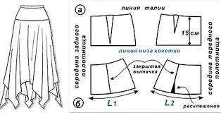 Картинки по запросу юбка из джерси выкройка