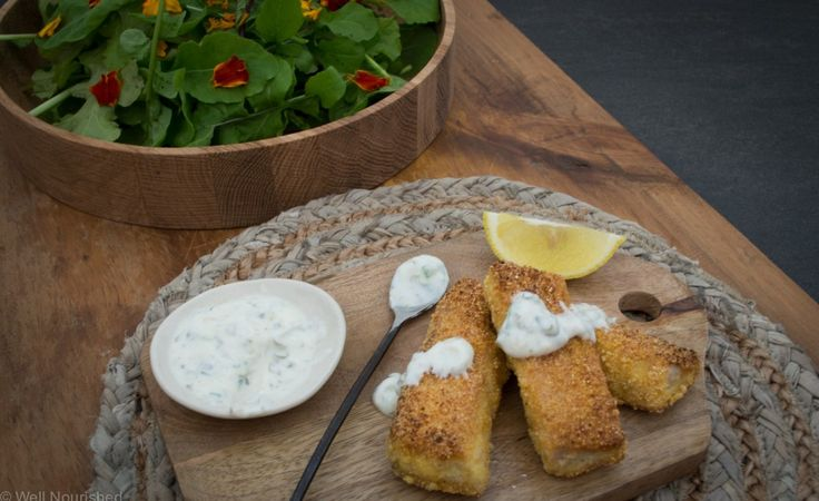 Dinner or Lunch: gluten free Fish fingers from Well Nourished
