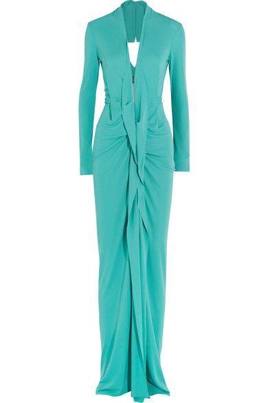 Roland Mouret | Compeyson open-back stretch-crepe gown | NET-A-PORTER.COM