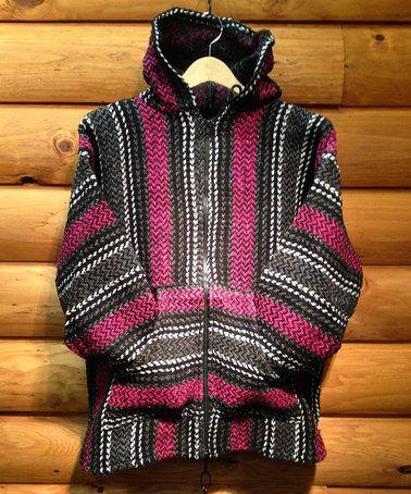 Love this Fuchsia Baja Joe Hooded Zip-Up Jacket by EARTH RAGZ on #zulily! #zulilyfinds
