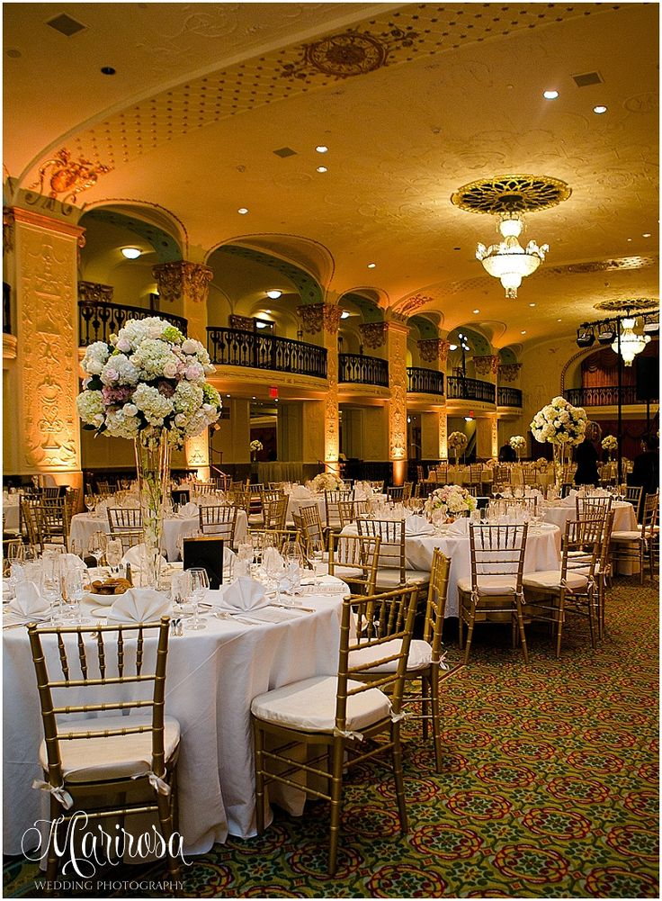 wedding reception locations nyc%0A Beautiful wedding reception in the Grand Ballroom at The Mayflower Hotel   Photo thanks to