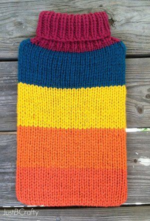 Knit Laptop Sweater Pattern   AllFreeKnitting.com Would also double as a hot water bottle cover