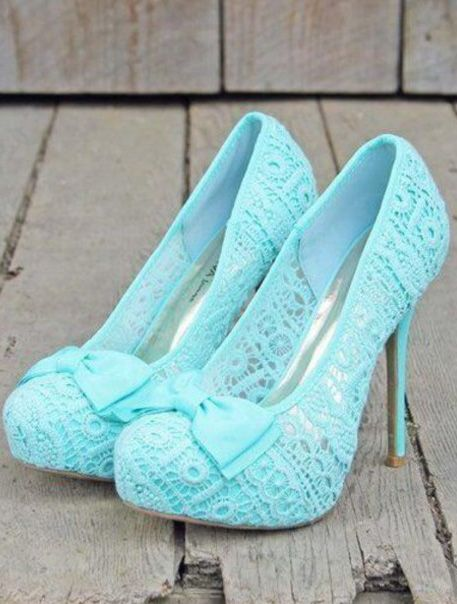 Baby Blue Lace Heels