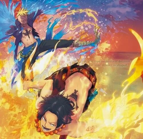 One Piece Marco X Ace Colors of flame. Marco...
