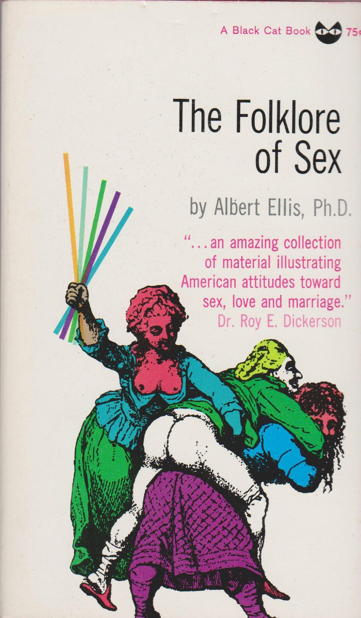 The Folklore Of Sex by Albert Ellis. Grove Press, 1961. Black Cat  paperback. Cover design by Roy Kuhlman. www.roykuhlman.com