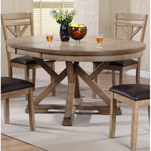 Cliburn Back Side Upholstered Dining Chair In 2020 Round Extendable Dining Table Dining Table Kitchen Table Settings