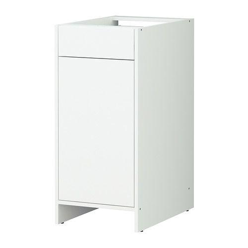 FYNDIG Benkeskap med dør og skuff IKEA Du kan tilpasse din oppbevaring med den flyttbare hylleplaten.