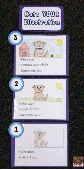 Wild about Teaching!: Welcome Stephanie from Falling into First: Illustration Rubric!: Self Assessment, Kindergarten Rate Writing, Illustrations Rubrics, Teaching Kids, Teaching Writing, Writing Rubrics, First Grade, Anchors Charts, Kindergarten Drawings Rubrics