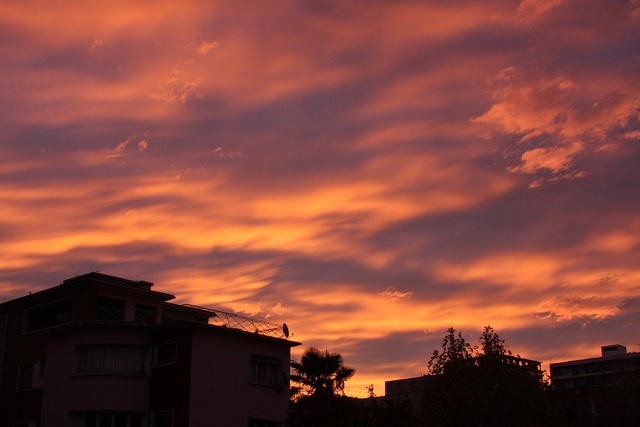 Santiago sunset after a rainy weekend