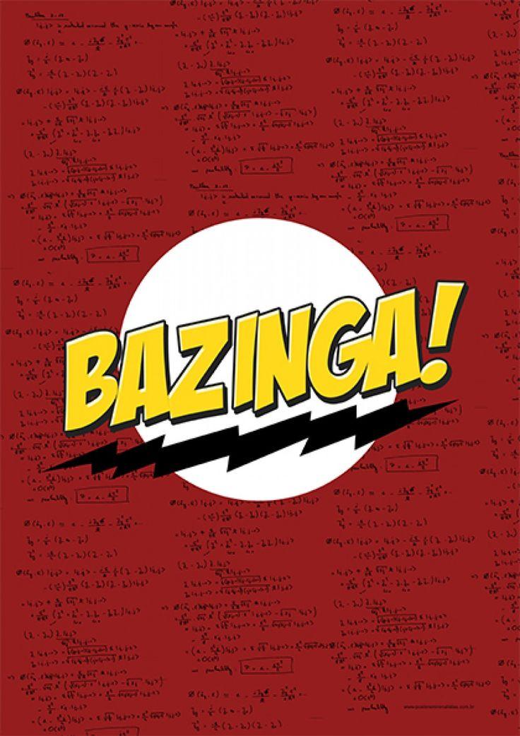 Bazinga! - Séries | Posters Minimalistas