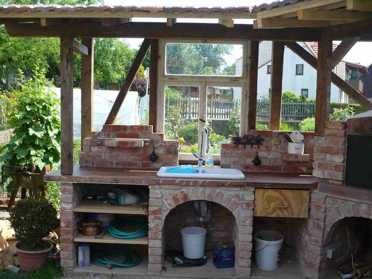 Eine gemauerte Gartenküche u2013 mehr als nur ein Grill Grillfansde - kuche im garten balkon grill