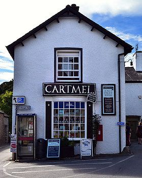 Cartmel village shop in Cumbria, England. The home of Sticky Toffee Pudding