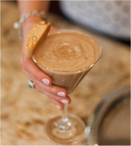 Warm up with the delicious, chocolaty Espresso Martini. -- 1.5 oz Van Gogh Double Espresso Vodka 1 oz Vanilla Vodka 1 shot of Chilled Espresso .5 oz Godiva Dark Chocolate Liqueur 1 oz Bailey's Irish Cream
