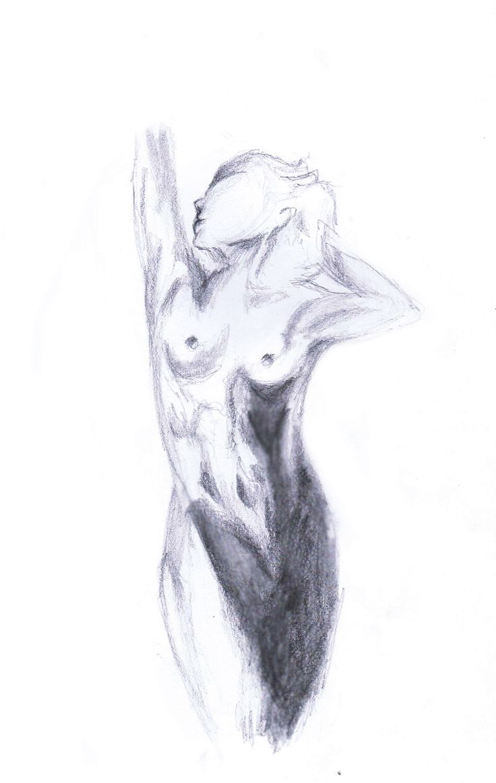 The Original Naked Lady - By Anthony Keutzer #Naked #Woman #Lady #Original #Sketch #Pencil #Blended