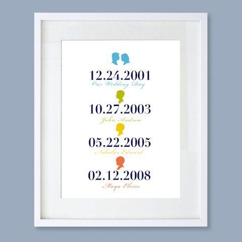 Family date print by Le Papier Studio
