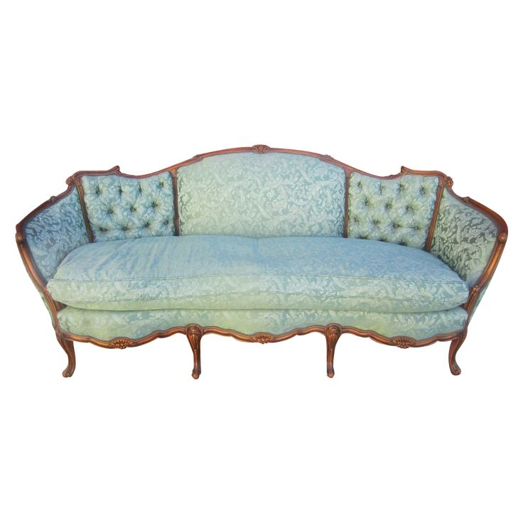 American Antique Carved Sofa Couch Loveseat Antique