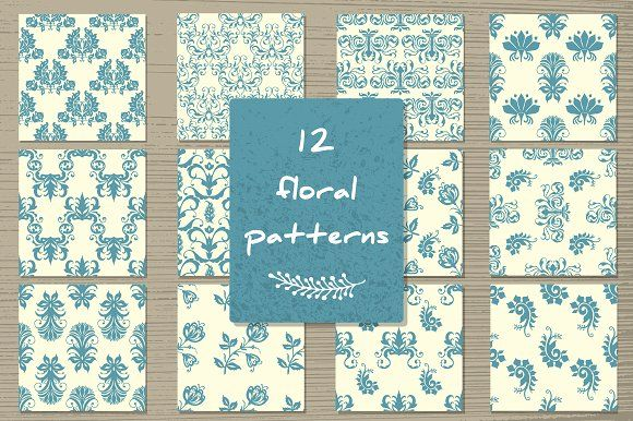 """Vector set""""Seamless  floral pattern"""" by Sofimix on @creativemarket"""