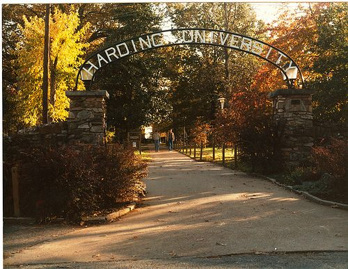 Harding University. Wish I could be there another 4 years! Best University ever!
