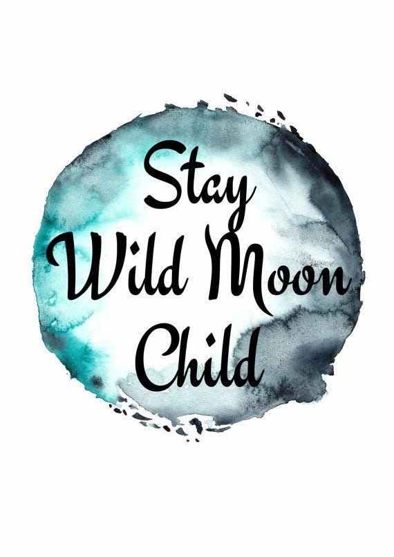 Boho Prints Stay Wild Moon Child Poster by HyperSplashPrints  Dream house  Stay wild moon
