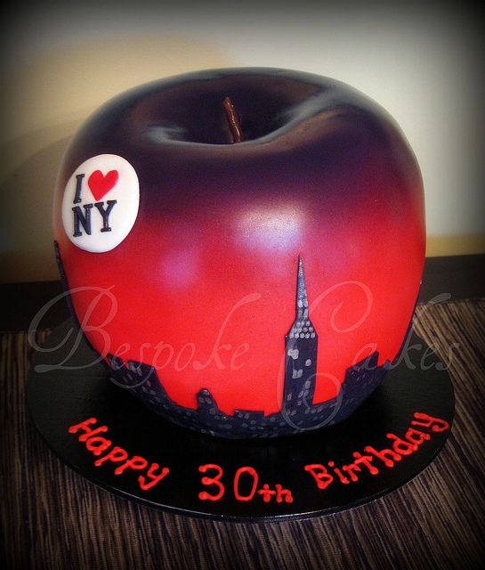 Big apple! by Bespoke Cakes, via Flickr