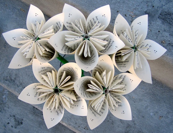 295 best altered book sculpture images on pinterest folded book recycled paper flowers done with old books mightylinksfo