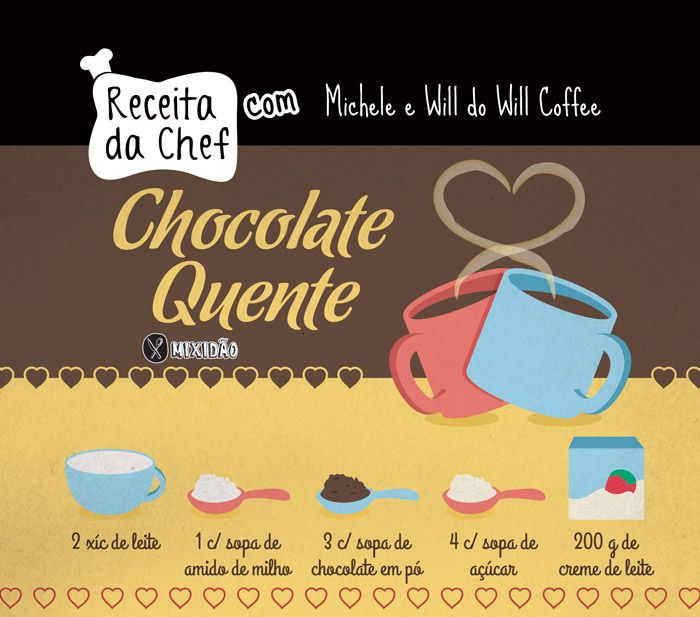 RECEITA-ILUSTRADA 171: Chocolate Quente da Cafeteria Will Coffee - http://mixidao.com.br/receita-ilustrada-171-chocolate-quente/