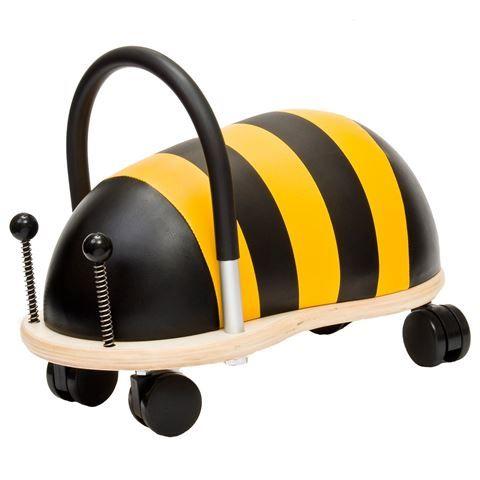 Det er en rullende bi som børn fra 1 år har stor glæde af at køre rundt på.