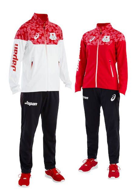リオ五輪の日本選手団ウエアをデザインしたのはアシックス。桜で日本代表の力強さと華やかさを表現。リオデジャネイロオリンピック2016