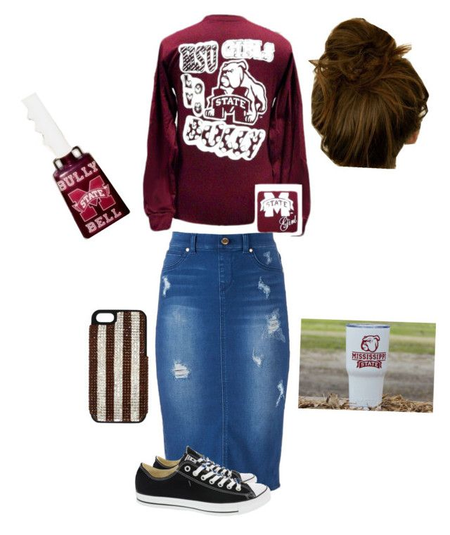 """Saturday's down south #hailstate"" by karlibrasel on Polyvore featuring Jennifer Lopez, Converse and Henri Bendel"