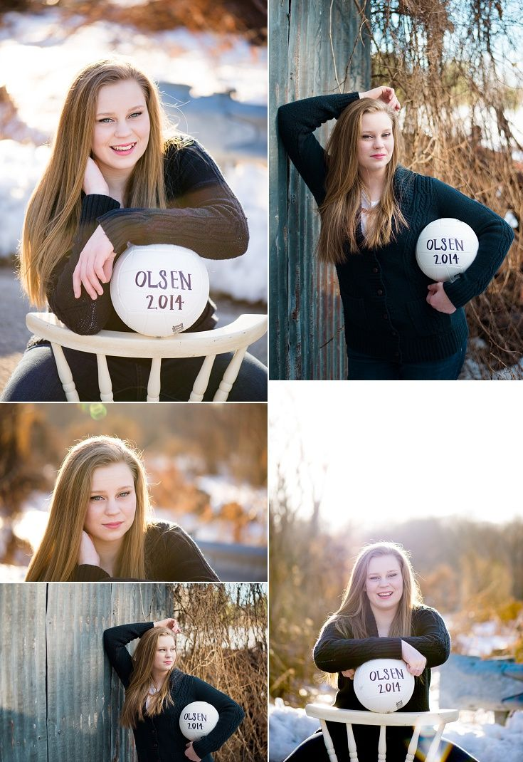 Senior girl with volleyball. Volleyball senior portraits   M Rose Photography