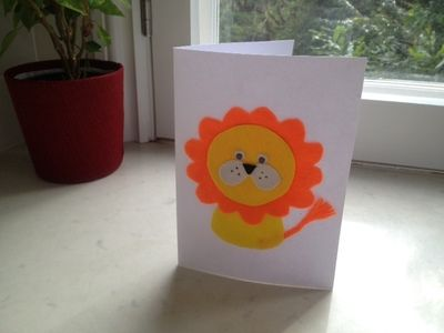 9 best greeting card making ideas how to images on pinterest simple steps to make lion birthday card kidscrafts diy howto greetingcards m4hsunfo