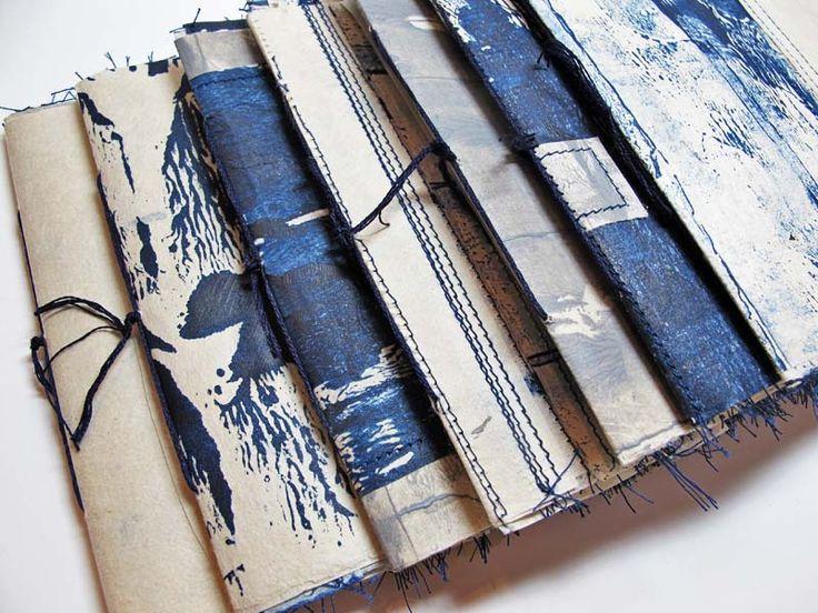 Jennifer Coyne Qudeen: Cloud, Paper, Water I - pamphlet stitched artists book