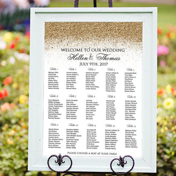 40 best Wedding Seating Charts images on Pinterest Wedding - wedding chart