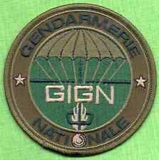 France Police GIGN Gendarmerie Patch.(Subdued Green)