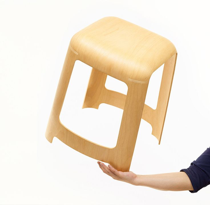 Mu Hau Kao Creates Curved Plystool Using A Single Piece Of Material