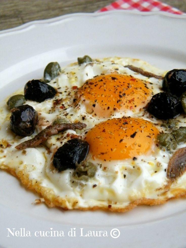uova alla puttanesca - nella cucina di laura