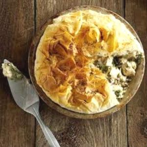 Healthy chicken pie.