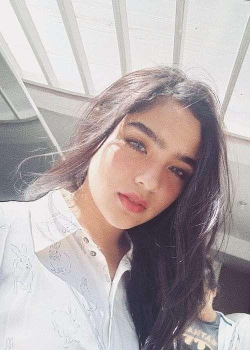 Andrea Brillantes in an Instagram selfie in October 2017...