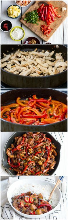 Quick Brazilian Chicken Stir Fry. Once all the veggies are chopped, this meal cooks up very quickly.