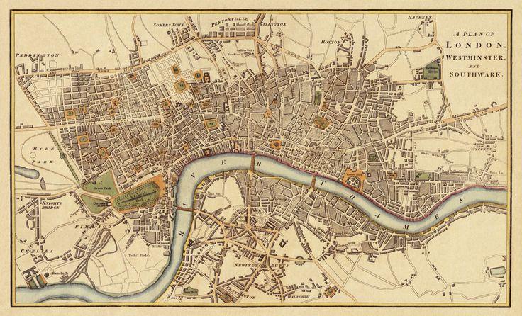 London Antique  map