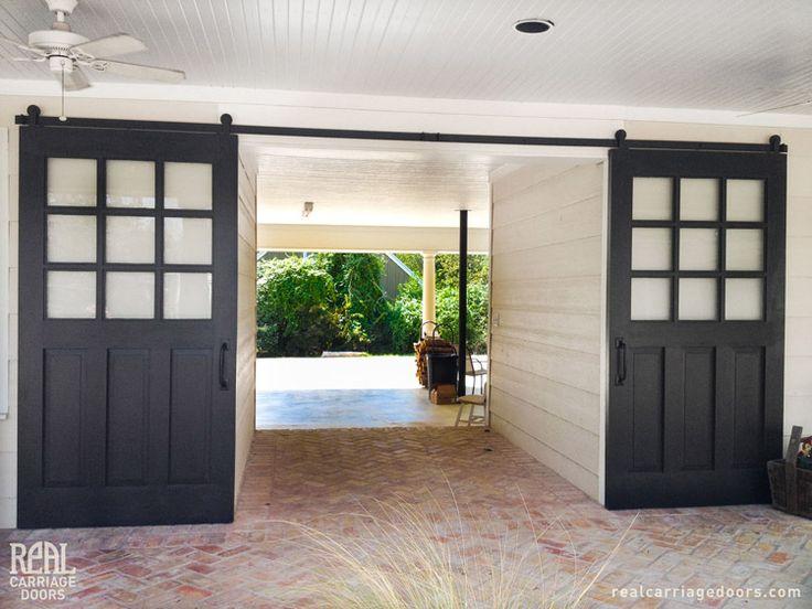 Patio Barn Doors Separate The Breezeway Between The Front